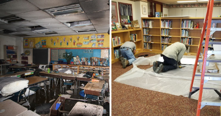 before after cold spring elementary