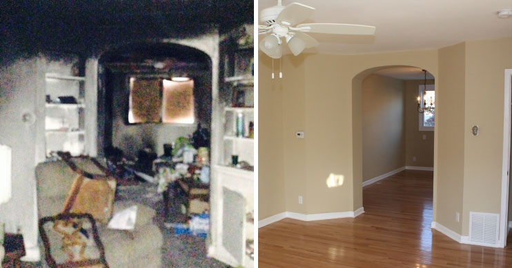 before after residential fire loss philadelphia