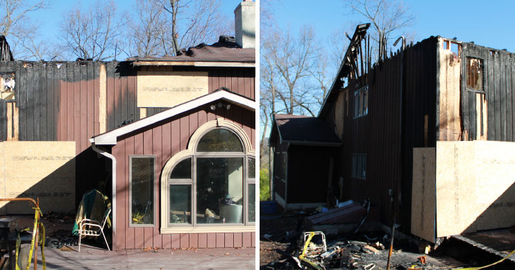 before after residential fire loss