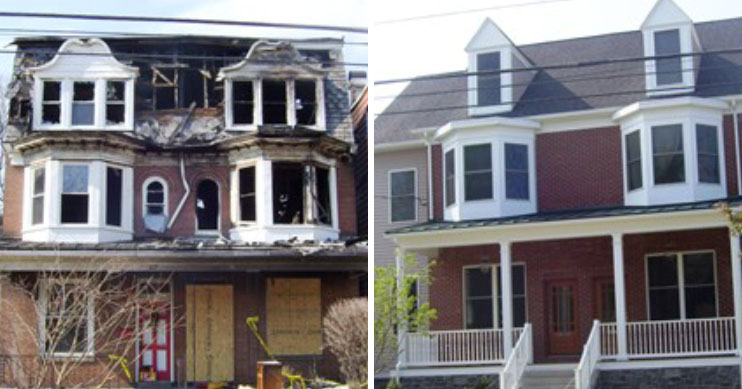 before after residential loss lemoyne pa
