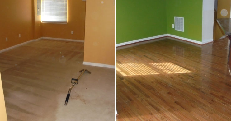 before after residential water loss maryland