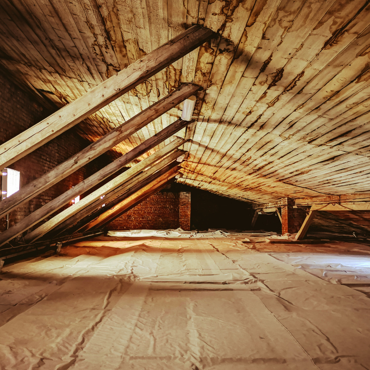 water damaged attic